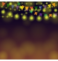 Horizontal Festival Garland vector