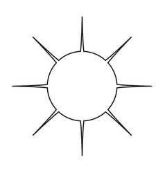 icon of the sun a simple without vector image