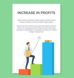 increase in profits visualization vector image