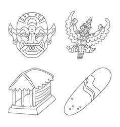 Isolated object balinese and caribbean icon vector