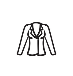jacket sketch icon vector image