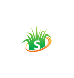 Lawn care center initial s vector