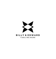 Letter b and e logo design concept vector