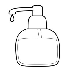 Liquid soap icon outline vector