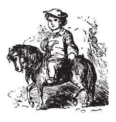 Little pony vintage vector