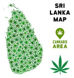Marijuana composition sri lanka island map vector