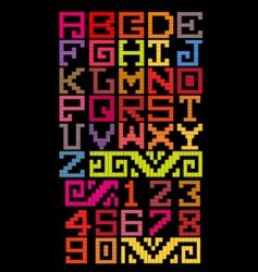 Mayan alphabet style vector image