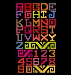 Mayan alphabet style vector