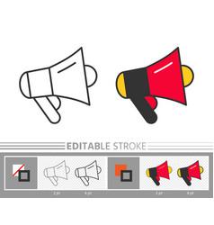 megaphone speaker stock sale news event line icon vector image