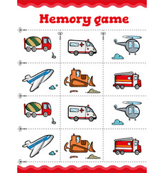 Memory game educational game for children vector