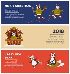 Merry christmas and 2018 happy new year greeting vector