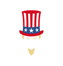 modern portrait of uncle sam american flag vector image