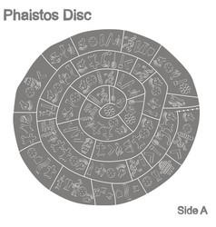 Monochrome with phaistos disc vector