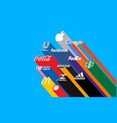 Most famous logos prestigious brands vector