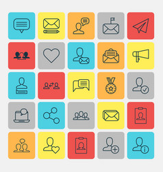 network icons set collection of text bubble vector image