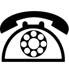 old telephone icon isolated on white background vector image