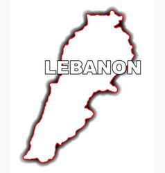 Outline map of lebanon vector