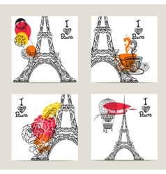 Paris Card Set vector