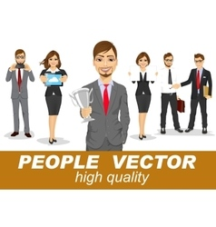 people with business characters vector image