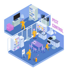 Pest control service isometric vector
