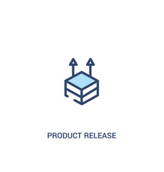 Product release concept 2 colored icon simple vector