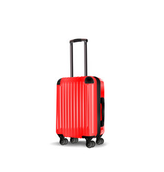 Red cabin luggage mock up vector