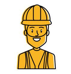 repairman builder avatar character vector image