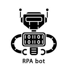 Rpa bot glyph icon vector