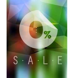 Sale discount 0 button on blurred background vector