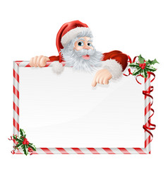 santa claus cartoon sign vector image
