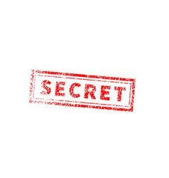 secret bright red vintage grunge stamp on white vector image