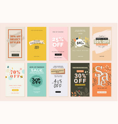 set mobile sale banners vector image