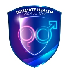 Sexual Health Protection Shield Symbol vector image