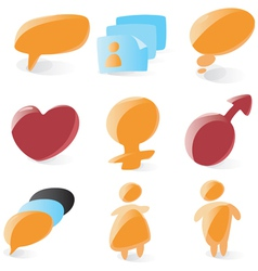 Smooth chat icons vector