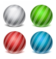 Sphere glass template vector