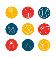 Sport game background icon vector
