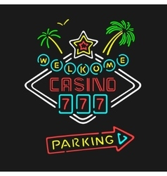 Symbol Neon Casino vector
