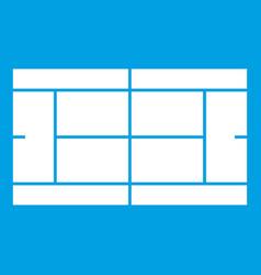 tennis court icon white vector image
