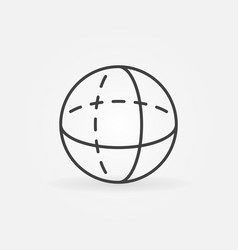 volume sphere outline icon vector image