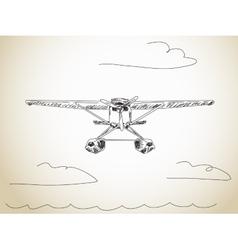 Water plane vector