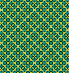 Weave seamless pattern Green and yellow flat vector image