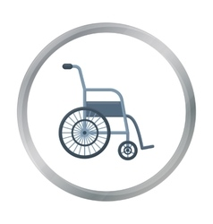 Wheelchair icon cartoon Single medicine icon from vector