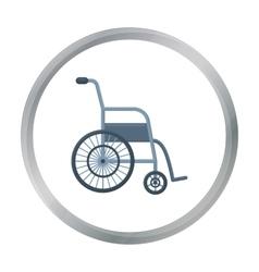 Wheelchair icon cartoon single medicine icon from vector