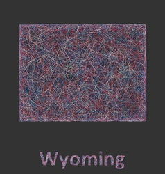 Wyoming line art map vector