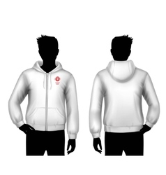 Hooded Sweatshirt Template vector image