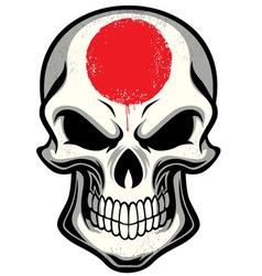 Japan flag painted on skull vector image