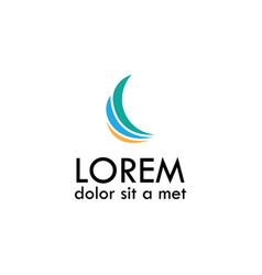 loop business logo vector image