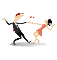 love dance young couple isolated vector image
