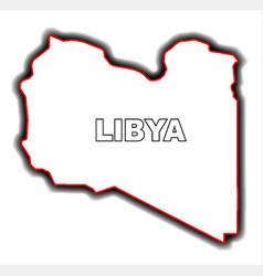 outline map of libya vector image