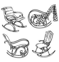 rocking chairs vector image vector image